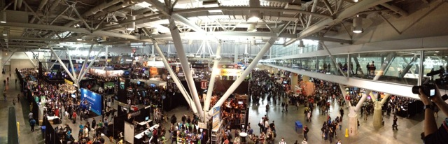 Panorama of the expo hall